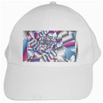 Picasso Speaks Stained Glass Fractal White Cap