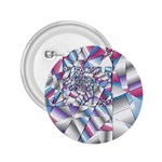 Picasso Speaks Stained Glass Fractal 2.25  Button