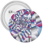 Picasso Speaks Stained Glass Fractal 3  Button