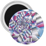 Picasso Speaks Stained Glass Fractal 3  Magnet