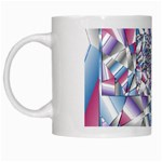 Picasso Speaks Stained Glass Fractal White Mug