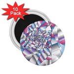 Picasso Speaks Stained Glass Fractal 2.25  Magnet (10 pack)