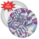 Picasso Speaks Stained Glass Fractal 3  Button (10 pack)