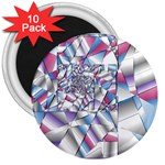 Picasso Speaks Stained Glass Fractal 3  Magnet (10 pack)