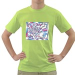 Picasso Speaks Stained Glass Fractal Green T-Shirt