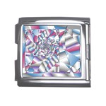 Picasso Speaks Stained Glass Fractal Mega Link Italian Charm (18mm)