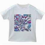 Picasso Speaks Stained Glass Fractal Kids White T-Shirt
