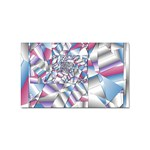 Picasso Speaks Stained Glass Fractal Sticker (Rectangular)