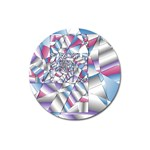 Picasso Speaks Stained Glass Fractal Magnet 3  (Round)