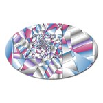Picasso Speaks Stained Glass Fractal Magnet (Oval)