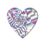 Picasso Speaks Stained Glass Fractal Magnet (Heart)