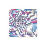 Picasso Speaks Stained Glass Fractal Magnet (Square)