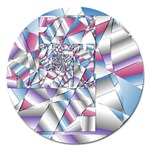Picasso Speaks Stained Glass Fractal Magnet 5  (Round)
