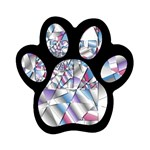 Picasso Speaks Stained Glass Fractal Magnet (Paw Print)