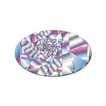 Picasso Speaks Stained Glass Fractal Sticker Oval (10 pack)