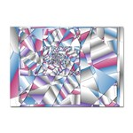 Picasso Speaks Stained Glass Fractal Sticker A4 (10 pack)
