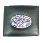 Picasso Speaks Stained Glass Fractal Wallet