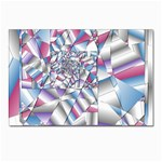 Picasso Speaks Stained Glass Fractal Postcard 4 x 6  (Pkg of 10)