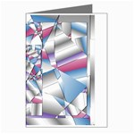 Picasso Speaks Stained Glass Fractal Greeting Card