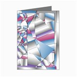 Picasso Speaks Stained Glass Fractal Mini Greeting Card