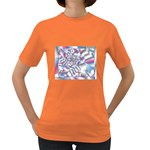 Picasso Speaks Stained Glass Fractal Women s Dark T-Shirt