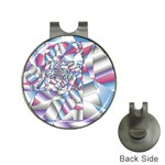 Picasso Speaks Stained Glass Fractal Golf Ball Marker Hat Clip
