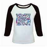 Picasso Speaks Stained Glass Fractal Kids Baseball Jersey