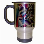 Picasso Speaks Stained Glass Fractal Travel Mug (Silver Gray)