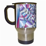 Picasso Speaks Stained Glass Fractal Travel Mug (White)