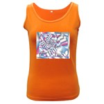 Picasso Speaks Stained Glass Fractal Women s Dark Tank Top