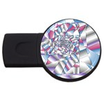 Picasso Speaks Stained Glass Fractal USB Flash Drive Round (4 GB)