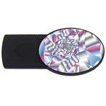 Picasso Speaks Stained Glass Fractal USB Flash Drive Oval (4 GB)