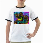 Lucy in the Sky With Diamonds Fractal Ringer T
