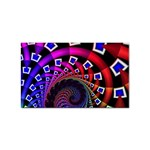 Groovy 60s Shag Fractal Sticker Rectangular (10 pack)