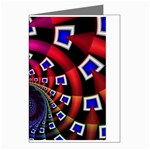 Groovy 60s Shag Fractal Greeting Card