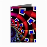 Groovy 60s Shag Fractal Mini Greeting Card