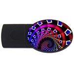Groovy 60s Shag Fractal USB Flash Drive Oval (4 GB)