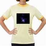 Gothic Blue Psychosis Fractal Women s Fitted Ringer T-Shirt