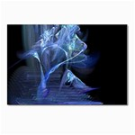 Gothic Blue Ice Crystal Palace Fantasy Postcards 5  x 7  (Pkg of 10)