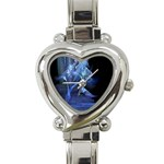 Gothic Blue Ice Crystal Palace Fantasy Heart Italian Charm Watch