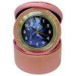 Gothic Blue Ice Crystal Palace Fantasy Jewelry Case Clock
