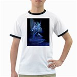 Gothic Blue Ice Crystal Palace Fantasy Ringer T