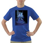 Gothic Blue Ice Crystal Palace Fantasy Dark T-Shirt