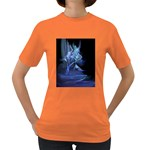 Gothic Blue Ice Crystal Palace Fantasy Women s Dark T-Shirt