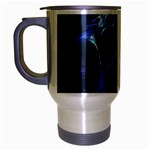 Gothic Blue Ice Crystal Palace Fantasy Travel Mug (Silver Gray)