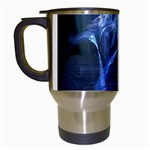 Gothic Blue Ice Crystal Palace Fantasy Travel Mug (White)