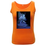 Gothic Blue Ice Crystal Palace Fantasy Women s Dark Tank Top