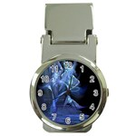 Gothic Blue Ice Crystal Palace Fantasy Money Clip Watch