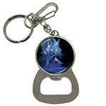 Gothic Blue Ice Crystal Palace Fantasy Bottle Opener Key Chain