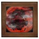 Bloody Gothic Demon Skull Moon Goth Art Framed Tile